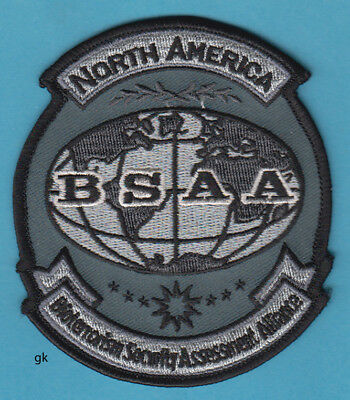 RESIDENT EVIL BSAA NORTH AMERICA BIOTERRORISM PATCH (Subdued- Gray)
