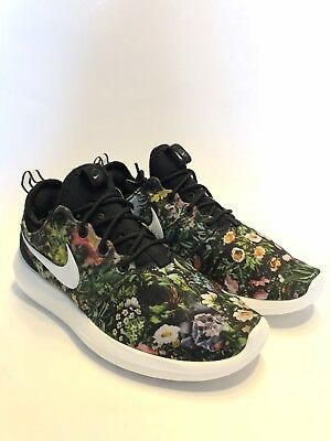 reputable site 7d765 9ea9a Nike Roshe Two Print Spring Garden Black Summit Wht-Pink 844933-004 Wmn