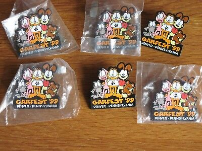 Garfield Pin Lot Of 6 Garfest 1999