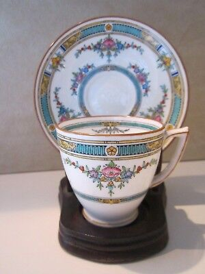 Rare Minton China Princess Pink Flower Demitasse Cup and Saucer 4 Available