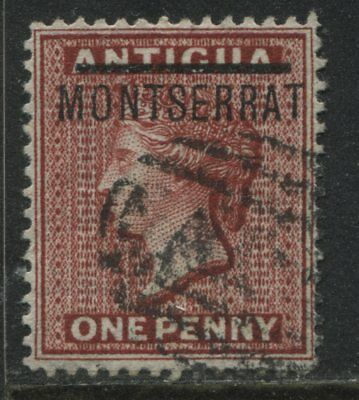 Montserrat QV 1876 1d overprinted Antigua stamp used