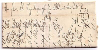 1857 Pre-stamp letter Prague (Czechoslovakia)  (includes receipt)