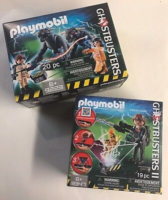 LOT of 2 Playmobil Ghostbusters Sets NEW 9347 and 9223