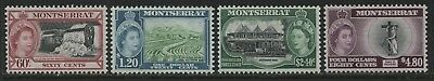 Montserrat QEII 1955 60 cents to $4.80 unmounted mint NH