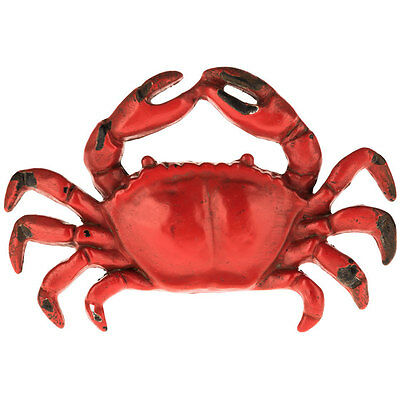 2 Red Crab Cast Pewter Drawer Cabinet Pulls Knobs. Nautical Home Decor. New