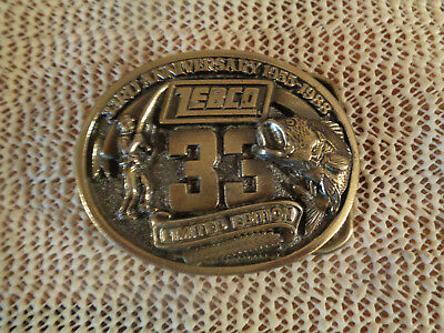 VINTAGE Zebco 33 Limited Edition Belt Buckle 33rd Anniversary 1955-1988 USA