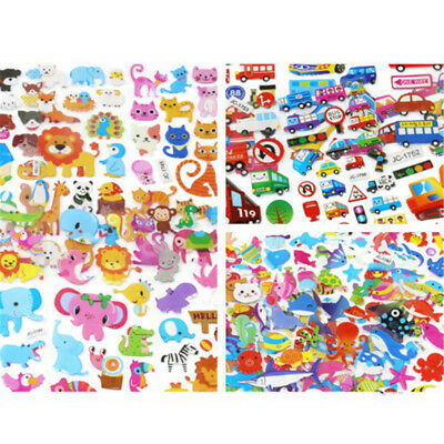 5 Sheets Cute Cartoon Scrapbooking Bubble Puffy Stickers Reward Kids Gift ToysJR