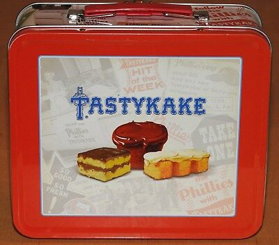 1989 Tastykake Philadelphia Phillies Metal Lunch Box Lunchbox Pail SGA Stadium