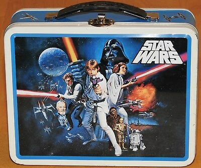 2008 Lucasfilms Star Wars Tin Box Lunch Pail Luke Skywalker Han Solo Darth Vader