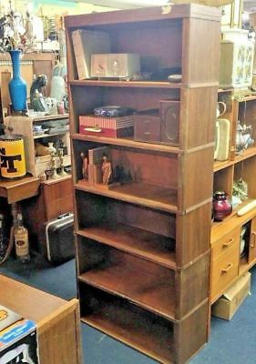 MID-CENTURY MODERN NUCRAFT STACKING BOOKCASE - 6 sections