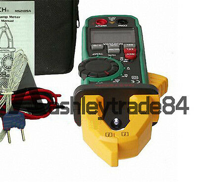 Mastech MS2109A True RMS Digital AC DC Clamp Meter Temp HZ Capacitance Tester