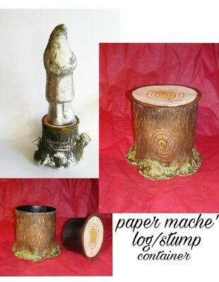 Plain Paper Mache stump/log candy container/ display stand for belsnickles large
