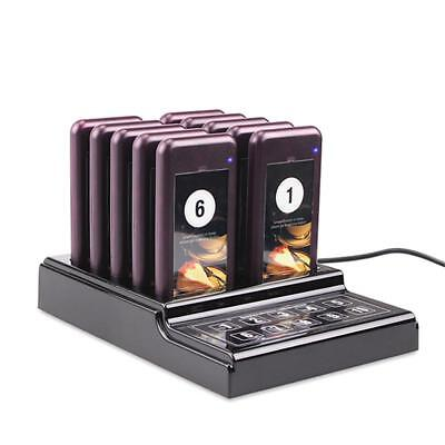 10 Restaurant Pager Wireless  Guest Call Waiter Paging Queuing Calling System