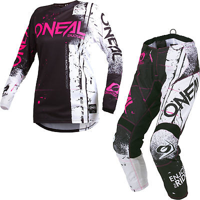 Oneal Element 2019 Shred Ladies Motocross Jersey & Pants Pink Kit ATV Outfit Set
