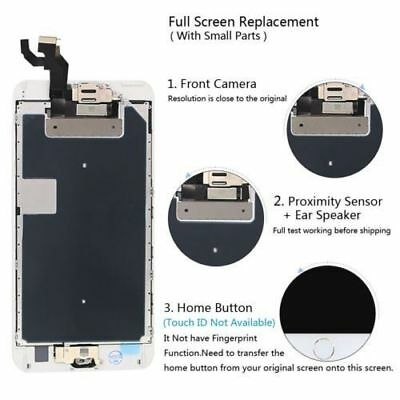 For iPhone 8 7 6 6s Plus 5 LCD Complete Touch Screen Home Button Camera