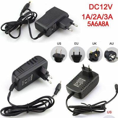 DC 5/6/9/12V 1/2/3A AC100-240V Adapter Charger Power Supply for LED Strip Light