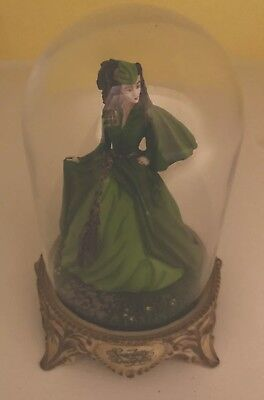Scarlett's Deception Gone With The Wind Figurine 1993 With Dome Cover