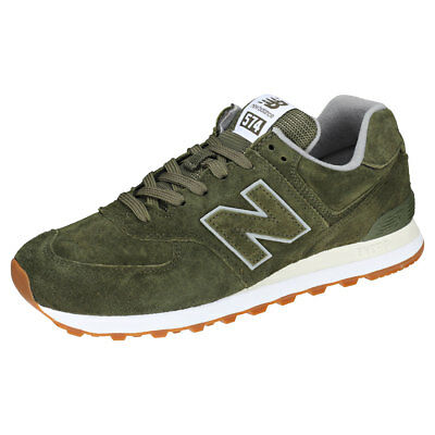new products 42e2f bccf6 NEW BALANCE ML574 Pigsuede Pack Mens Dark Green Suede & Mesh Trainers - 8 UK