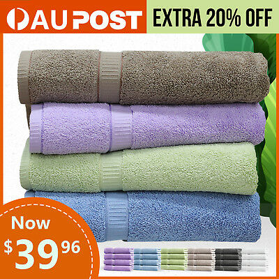 Egyptian Cotton Bath Towels 4/6pack 620GSM 70*140cm Soft Warm Quality Spa Towel