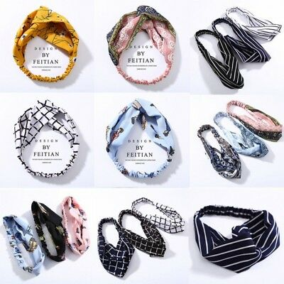 Trendy Women Turban Twist Headband Twisted Knotted Knot Hair Band Head Wrap Gift