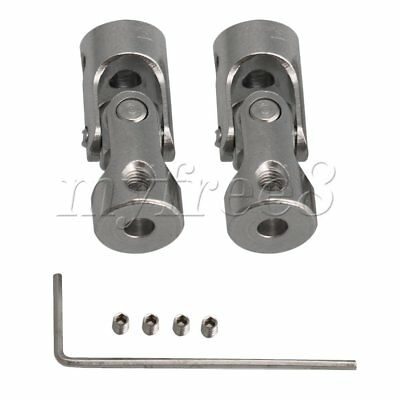 2xLong 24mm ID 3-3.2mm Rotatable Motor Shaft Universal Joint Connector Coupler