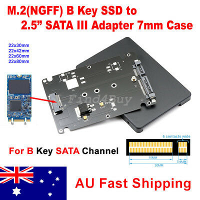"M.2 SSD NGFF (B Key) to 2.5"" SATA 7mm HDD Enclosure Case Converter Adapter"
