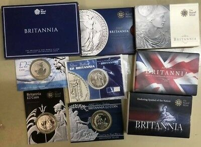 1oz SILVER BRITANNIA 2000 to 2018 CHOICE OF YEAR in Packs