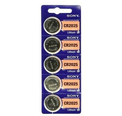Sony CR2025 CR 2025 3V Button Coin Cell Battery x 5pcs Brand new Genuine EXP2028