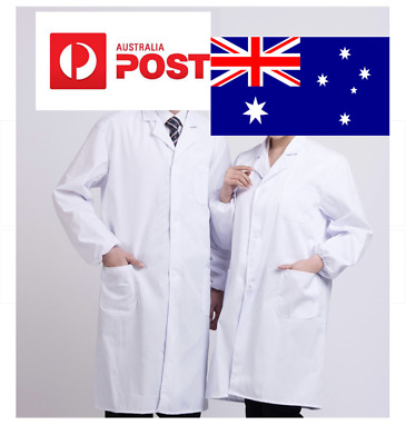 AU seller Adult Labcoat Lab Coat White Gown Doctor Professional Costume Party