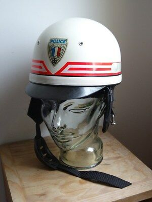 Casque motocross Police Nationale obsolete France 1977