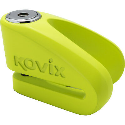 Kovix KVZ1 6mm Disc Lock Fluo Green Motorbike Security Motorcycle Anti Theft