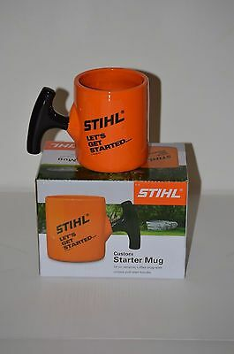 "STIHL ""LET'S GET STARTED"" Collector Coffee Mug, 14 oz., with pull start handle."