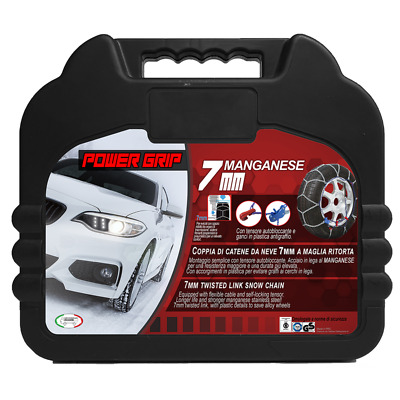 Catene  Neve Power Grip 7mm Omologate gr 90 per Gomme 205/65r15 MAZDA XEDOS 9
