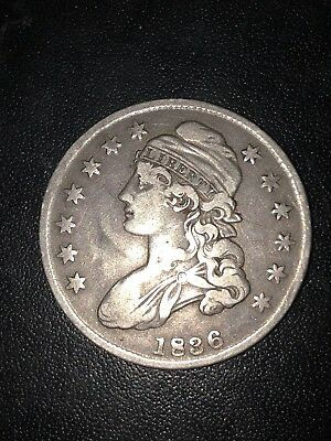 1836 capped bust half dollar 50/00 Writing On The Side