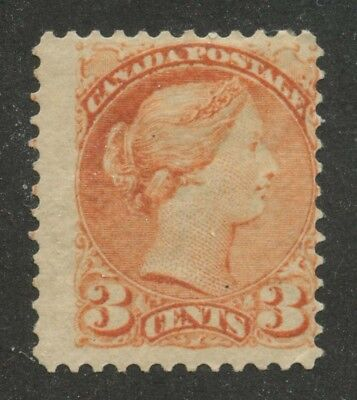 Canada 1873 Small Queen 3c orange red #37 original gum
