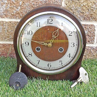 Small Smiths Mantel 8 Day Striking Clock - Great Condition