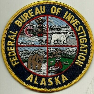 FBI: ALASKA FEDERAL BUREAU OF INVESTIGATION Police Patch Polizei Aufnäher EisBär