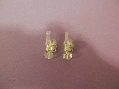 dollhouse miniature 1/12 scale glass pair of huricane shade wall sconces