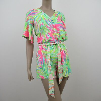 6af5f55c6938 Lilly Pulitzer Madilyn Romper Lime Engineered Size XXS