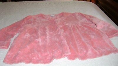 Vintage Chenille Bed Jacket Pink Original Comfort Choice No:6-1561-7 Nice