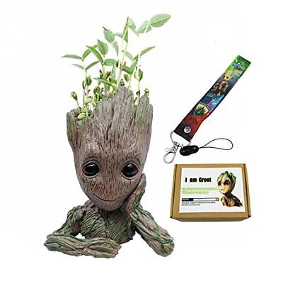 Groot Action Figures Guardians of The Galaxy Flowerpot Baby Cute Model Toy Pen P