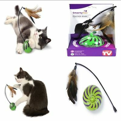 Feather Whirl Electronic Motion Cat Toy As Seen On TV Wand Ball Springs Stick