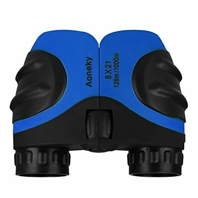 Aoneky Compact Mini Rubber 8 x 21 Kids Binoculars for Bird Watching, for Childre
