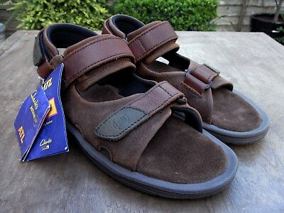 d5e1bc2afcfb Mens Clarks Active Air ATL Air Trek Leather Walking Sandals UK 8 G New with  Tags