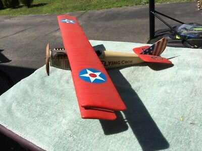 Large Antique Flying Circus A Thrill For the Nation Barnstorming Airplane Model