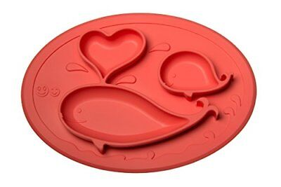 Smiths Mini Mat - One-Piece Silicone Placemat  Plate Coral  FREE Smiths Ca