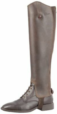 USG Real Nubuck Waxed Leather Gaiters, Calf 35 cm, 44 cm, Brown