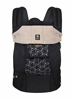Lllbaby Complete Embossed 6-in-1 Baby Carrier, Black Diamond Luxe