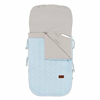 Babys Only 461320Knit Summer Foot Muff for Baby SeatBaby Blue