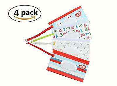 Yizeda Travel Wipes Case Reusable Wet Wipe Pouch Baby Wipes Dispenser for Baby E